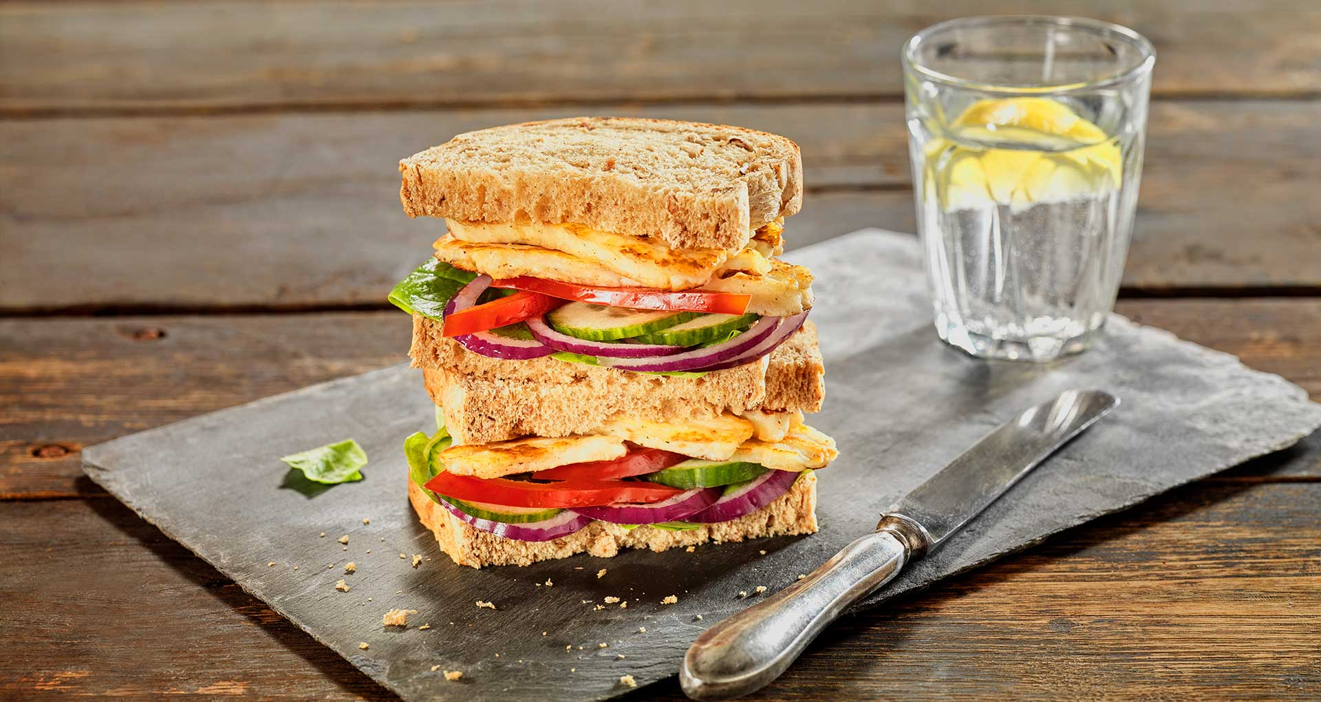 Grilled Halloumi Sandwich with Granary®
