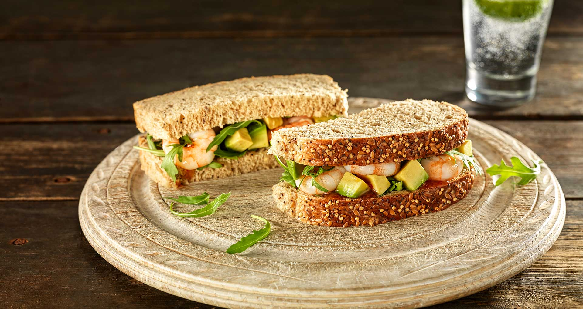 Prawn, Avocado & Chilli Sandwich
